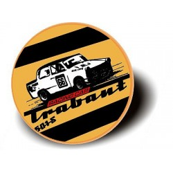 TRABANT RACING CAR - BUTTON Przypinka Ozdobna