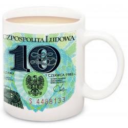 Kubek z banknotem 10zł PRL 1982 r. POLSKA