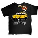 Fiat Polski 126p Maluch koszulka z nadrukiem dla dziecka