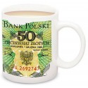 Kubek z banknotem 50 zł Karol Świerczewski PRL 1988 POLSKA
